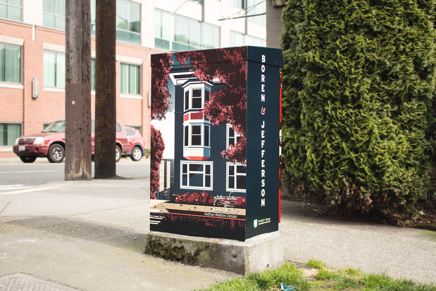 Public Art: Signal Boxes Across First Hill (Boxes 17-27)