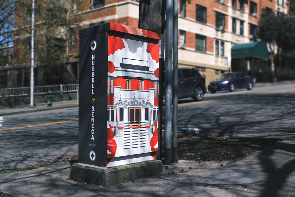 Public Art: Signal Boxes Across First Hill